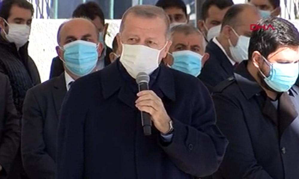 Erdoğan deprem faciası için 'imtihan' dedi