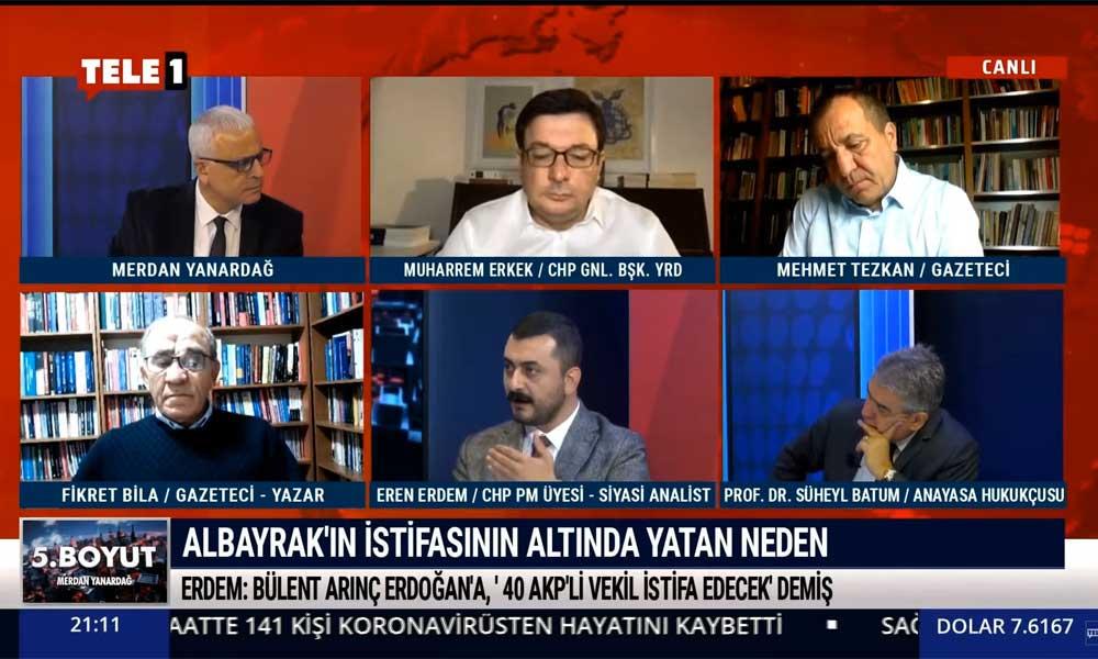 Berat Albayrak'ın istifasının arka planındaki gerçek ne? Eren Erdem TELE1'de açıkladı