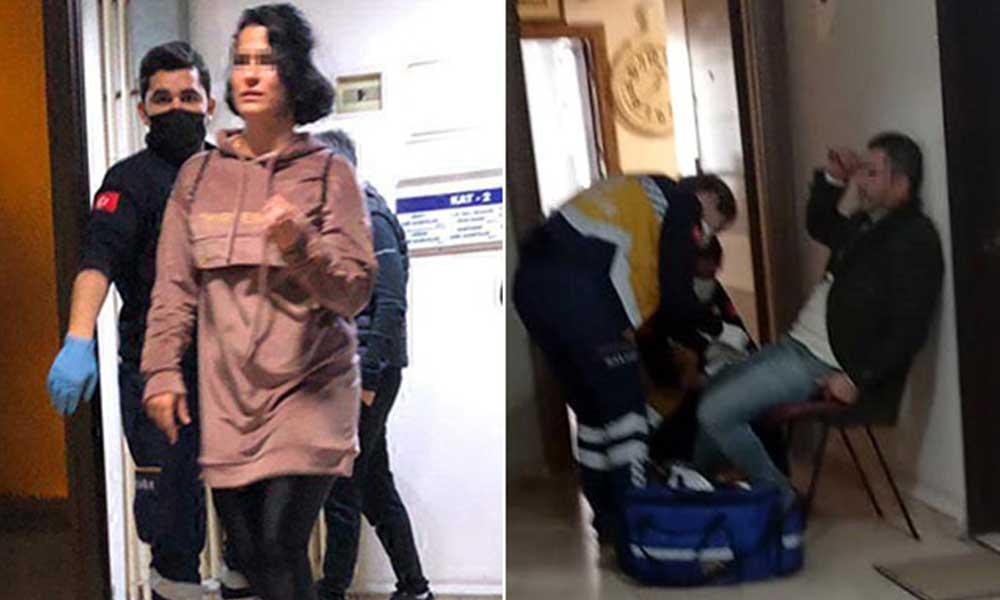 Eski sevgilisine saldıran erkek, sonrasında kendisini bacağından bıçakladı