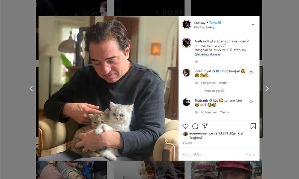 Fazıl Say, 'Küt' ile birlikte piyano çaldı: Sosyal medyada takipçileriyle paylaştı