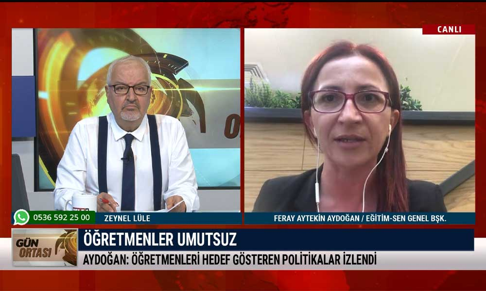 Eğitim-Sen Genel Başkanı Feray Aytekin Aydoğan: Öğretmenlerin yüzde 70'i kendini güvende hissetmiyor