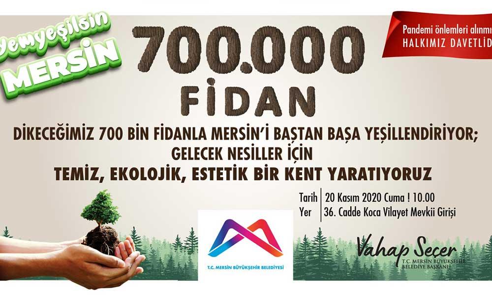 Büyükşehir, 'Yeşil Mersin Projesi'ni başlatıyor