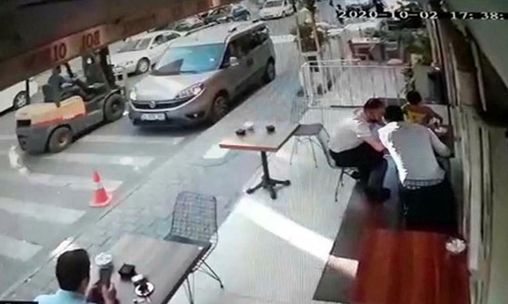 Trafiğe çıkması yasak forkliftin 9 yaşındaki çocuğa çarptı