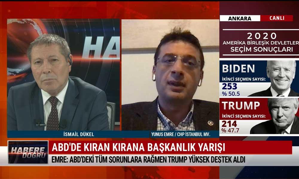 CHP İstanbul Milletvekili Yunus Emre: AKP iktidarı, Biden'le iyi ilişkiler kurmak için büyük paralar akıtacak