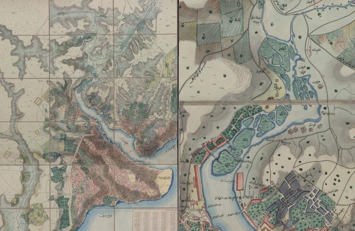 1845'ten kalan harita İstanbul'a nasıl kıyıldığını gösteriyor