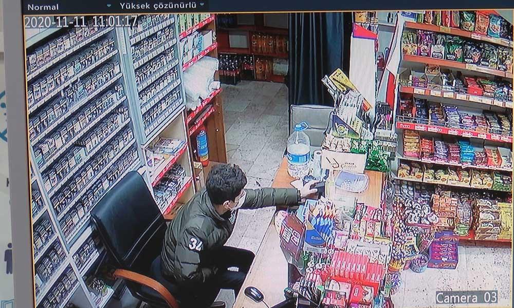 'Kalacak yerim yok' diyerek işe başladığı marketi soyarken kameralara yakalandı