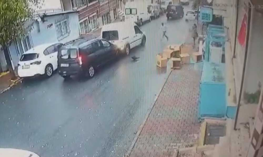 İş yeri sahibi, hırsızların aracına atlayınca silah zoruyla indirildi