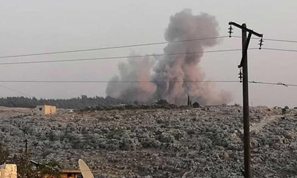 İdlib kırsalına hava saldırısı