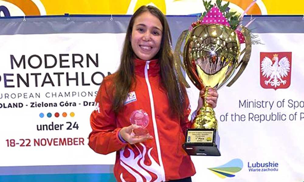 Milli sporcu İlke Özyüksel Avrupa şampiyonu oldu