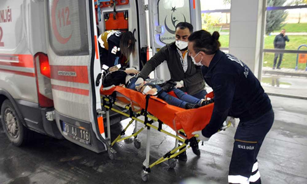 Hakan K. isimli erkek, tartıştığı eşini bacağından vurdu