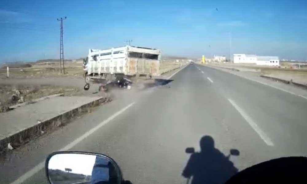Polis memuru kaza yaptı, arkadaşının kask kamerası görüntüledi