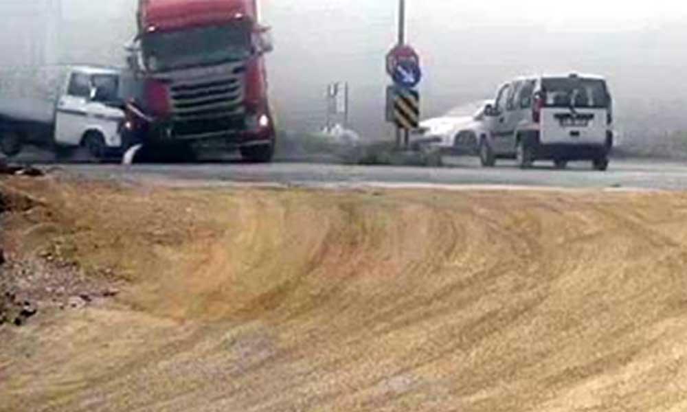 Bolu'da yaşanan zincirleme trafik kazası böyle görüntülendi