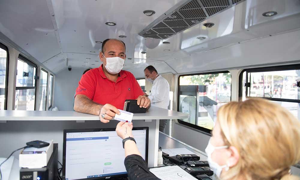 Kentkart Mobil Hizmet Aracı vatandaşlara kolaylık sağlamaya devam ediyor
