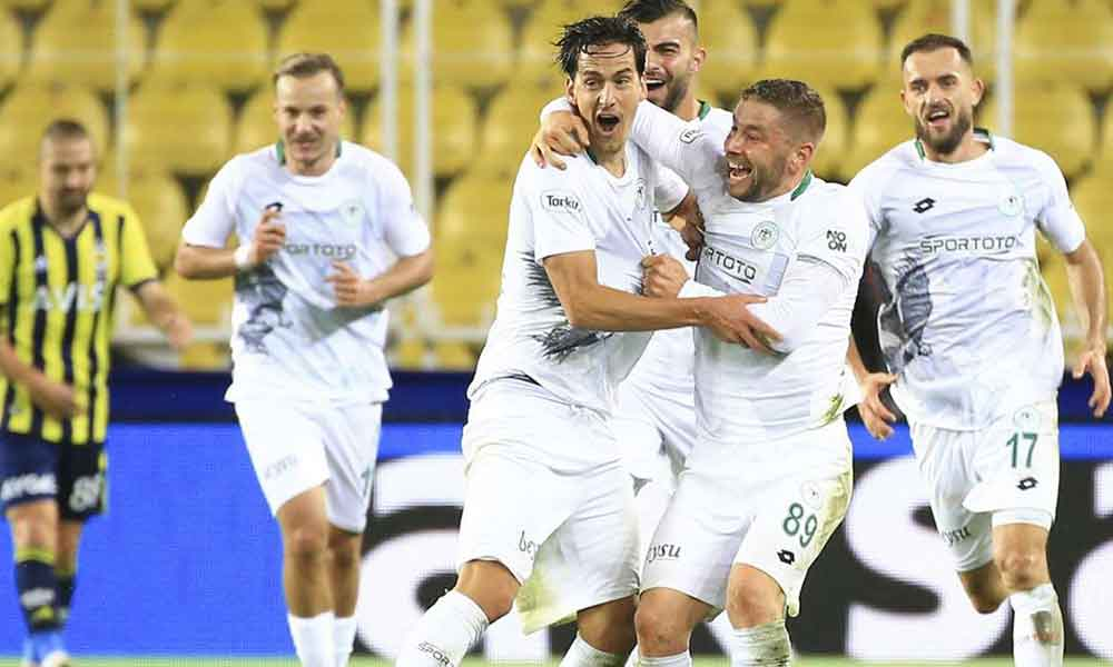 Konyaspor deplasmanda Fenerbahçe'yi yendi
