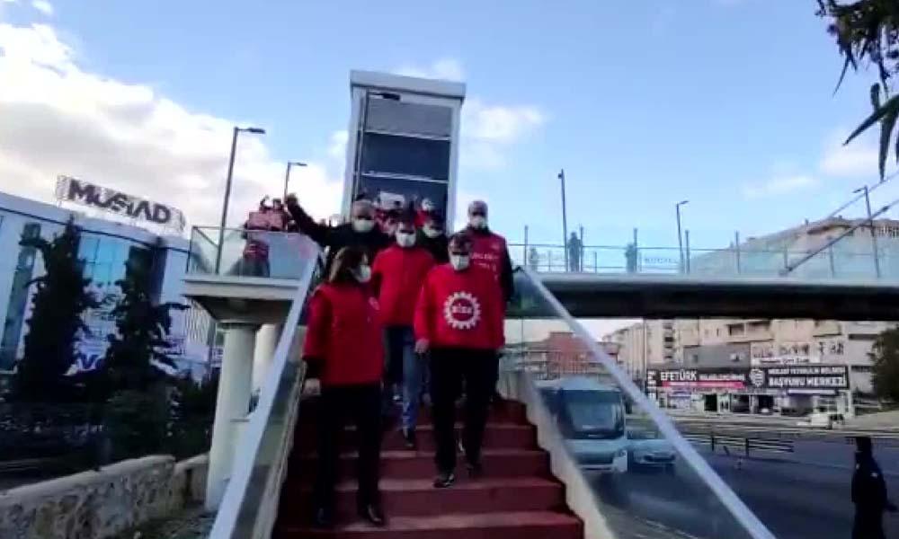Metal işçileri Ankara'ya doğru yola çıktı