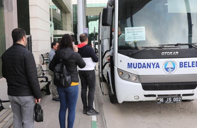 Mudanya'da sağlık çalışanlarına ücretsiz sağlık hizmeti