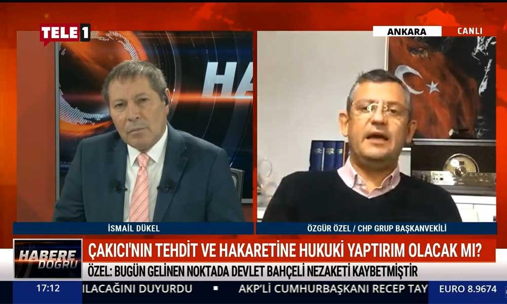 CHP Grup Başkanvekili Özgür Özel: Asıl azmettirenin Devlet Bahçeli olduğu tetikçisine sahip çıkmasından belli