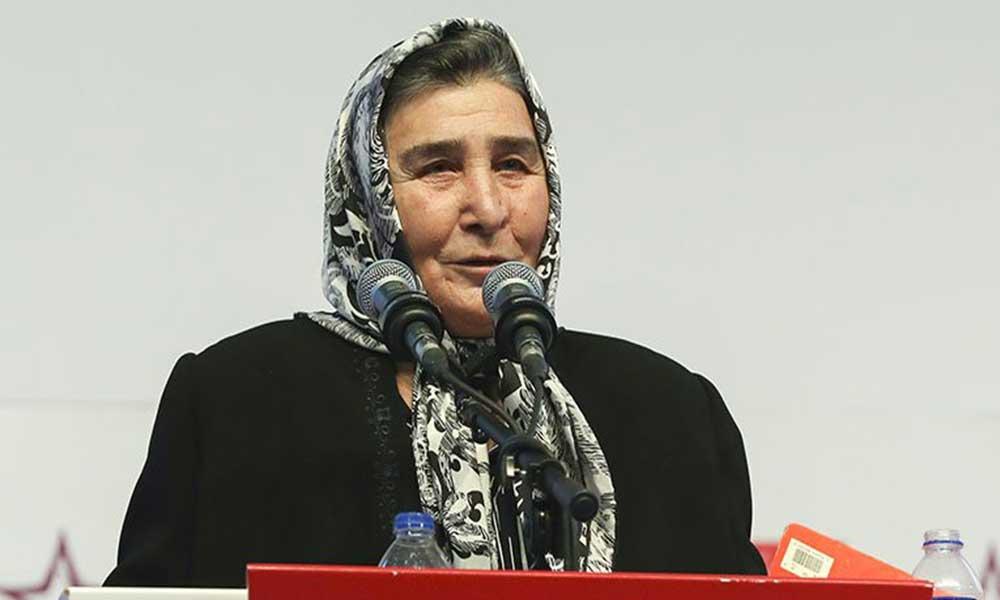 Şehit Anaları Derneği Başkanı Pakize Akbaba'nın Covid-19 testi pozitif çıktı
