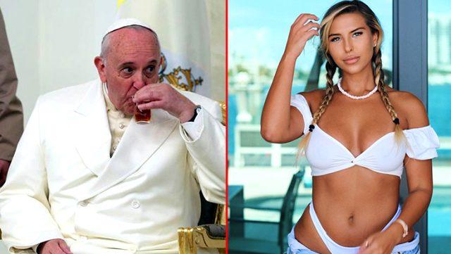 Papa Francis tanınmış modeli görünce dayanamadı, beğendi