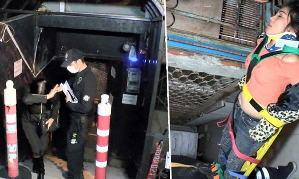 Polis koronavirüs baskını yaptı: Kaçan iki kişi merdivenlerden düşerek yaralandı