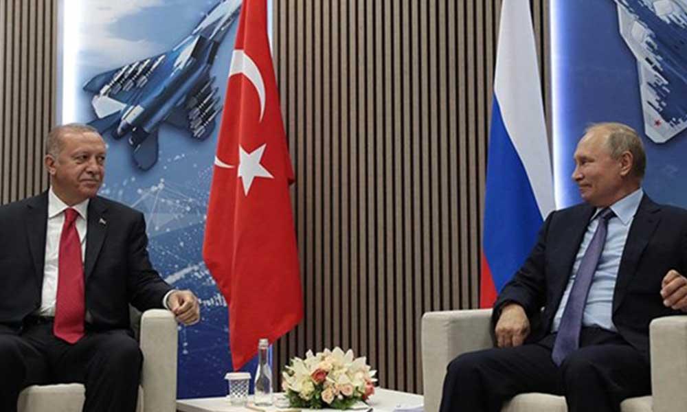 AKP'li Cumhurbaşkanı Erdoğan, Putin ile görüştü