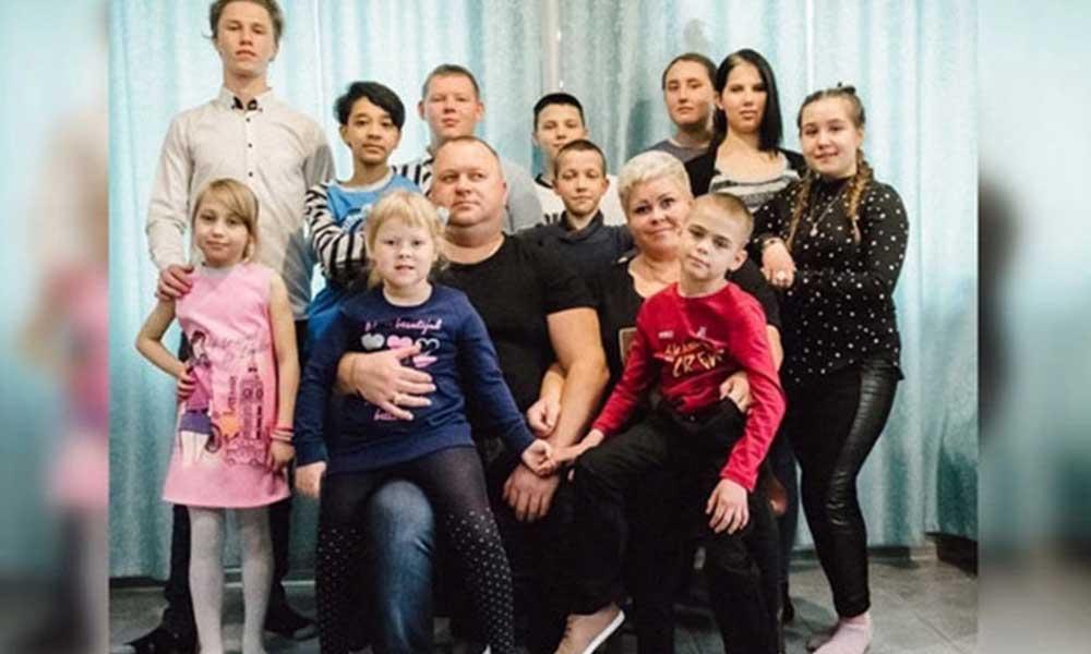 14 çocuklu Oşepkov ailesinin 11 üyesi koronavirüse yakalandı
