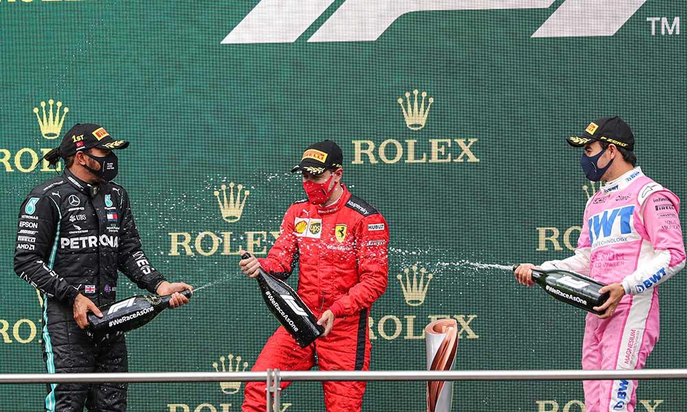 Cumhurbaşkanlığı'ndan Formula 1'de patlatılan gazoz hakkında açıklama
