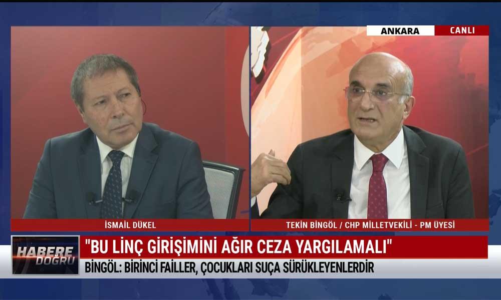 CHP Milletvekili Tekin Bingöl: Bir insan seccadeyi nasıl saldırı aracı olarak kullanabilir?