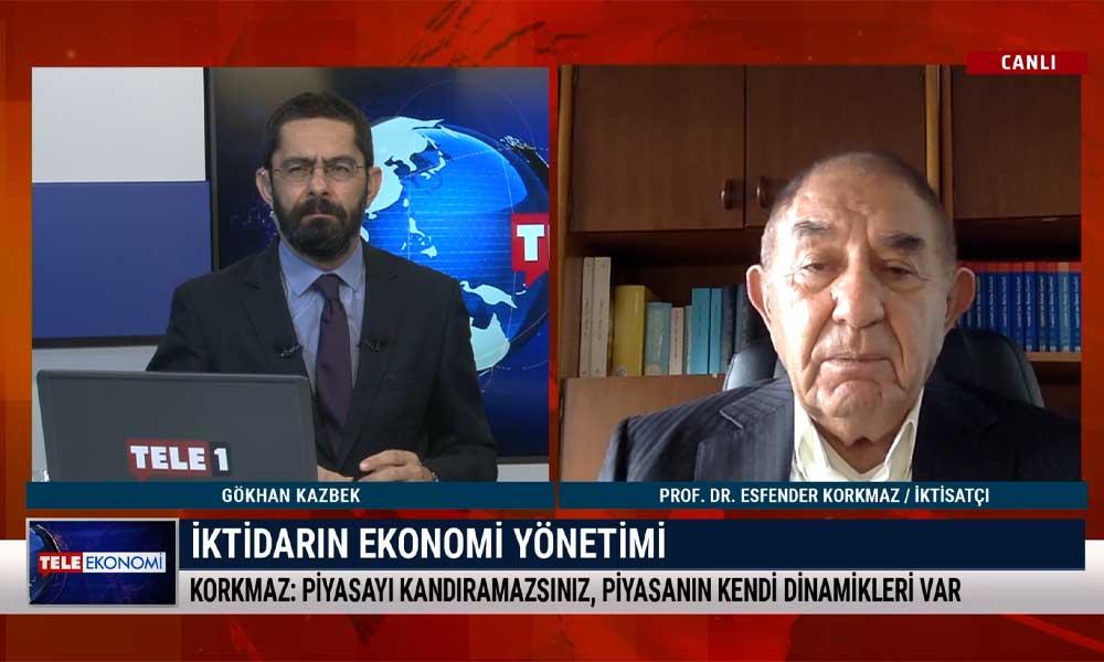 İktisatçı Prof. Dr. Esfender Korkmaz: Piyasa, iktidara güvenmiyor – TELE EKONOMİ