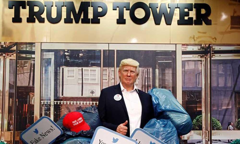 Madame Tussauds Müzesi'ndeki Trump heykeli çöpe atıldı