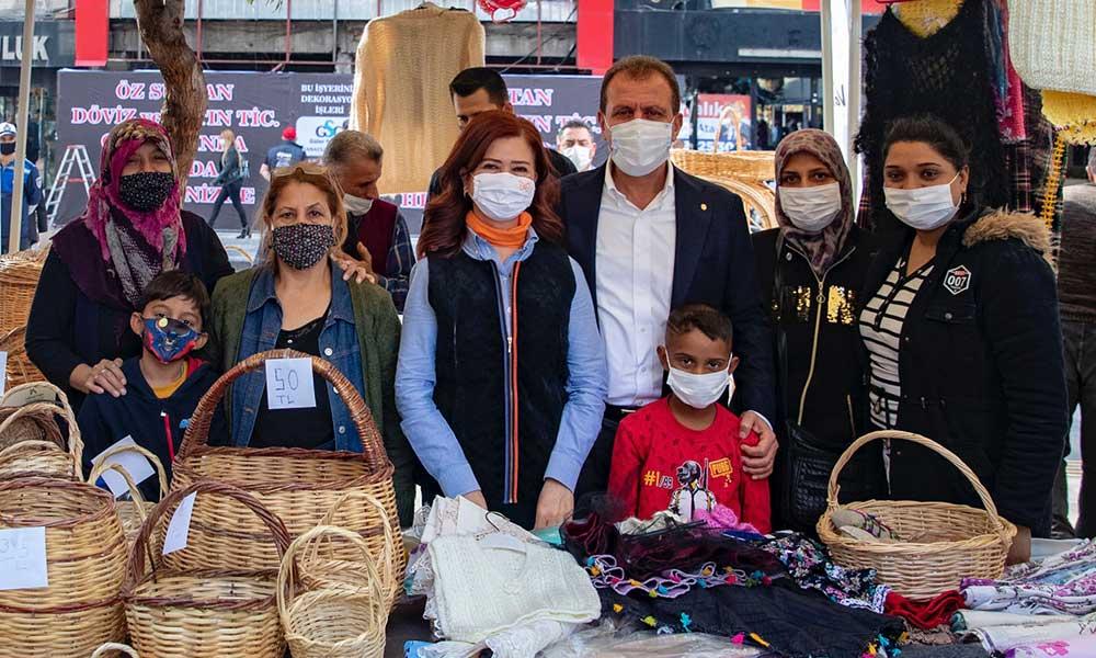 Başkan Seçer, Yoğurt Pazarı'nda üretici kadınlarla buluştu