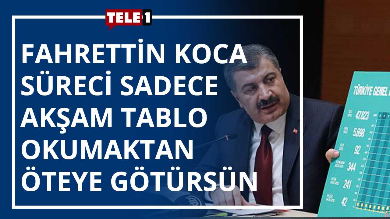 """""""Sağlık Bakanı bilimi reddetmeye başladı çünkü Saray'a söz geçiremez oldu"""" – HABERE DOĞRU"""