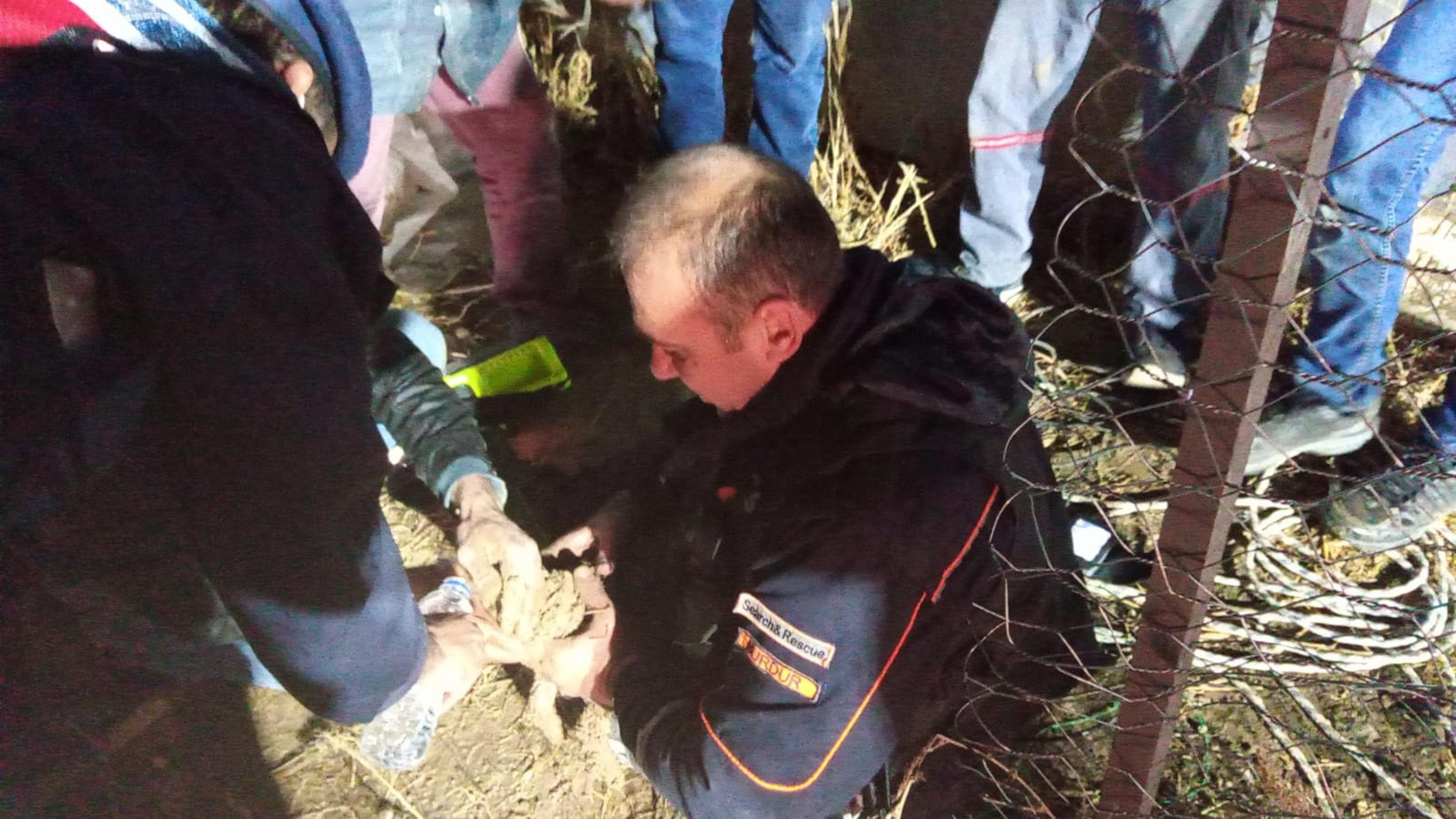 Kuyuya düşen yavru köpek kurtarıldı