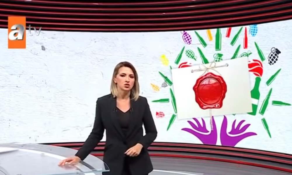 HDP, ATV'yi RTÜK'e şikayet etti: Parti logosundaki yaprak ve yıldız, el bombası ve mermi ile değiştirildi