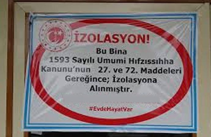 Trabzon'da koronalı binalar afişle ifşa edilecek