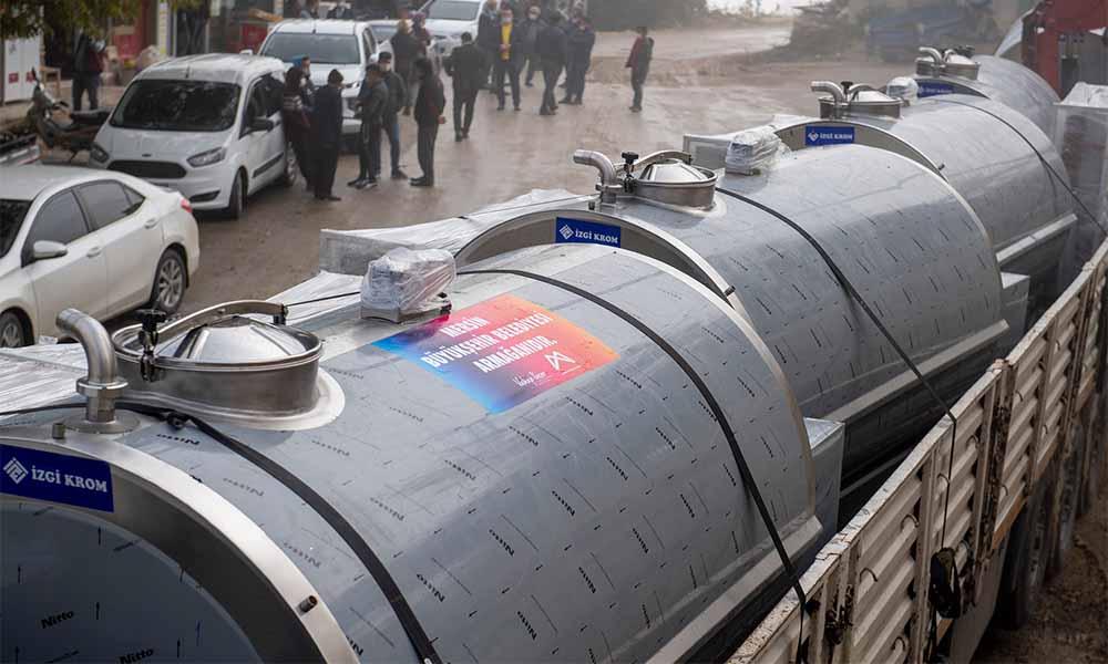 Büyükşehir'den süt üreticilerime soğutma tankı desteği