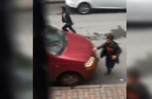 Kısıtlamada sokakta oynayan çocukları polis sireniyle korkuttu