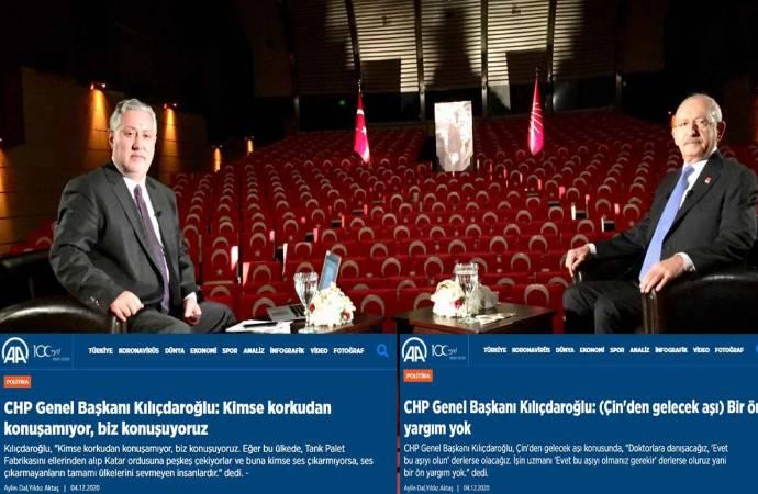 Anadolu Ajansı, Kılıçdaroğlu'nun açıklamalarından hangi bölümleri yayından kaldırdı?