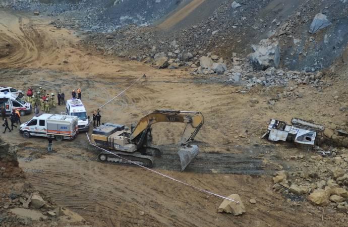 Arnavutköy'de taş ocağında göçük: 2 işçi hayatını kaybetti