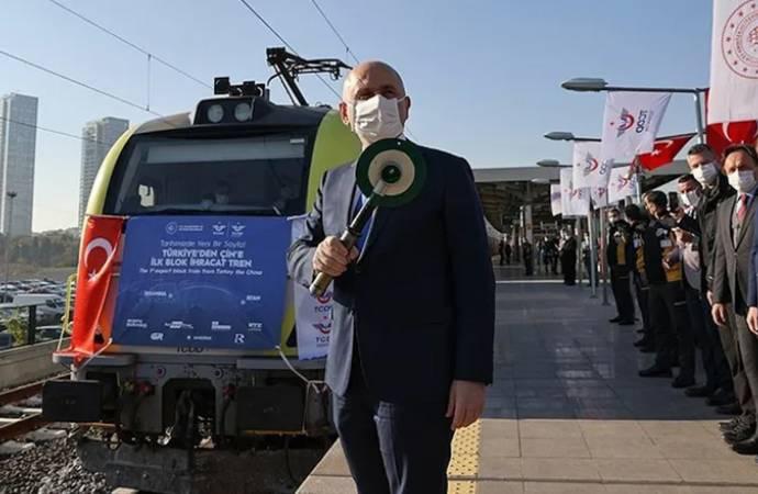 Bakan takipte: Çin gidecek tren Azerbaycan'a ulaştı