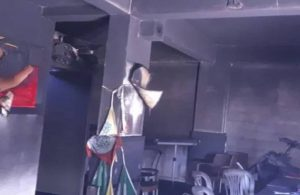 HDP'nin Bursa İnegöl ilçe binası ateşe verildi