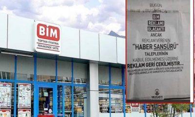 Milli Gazete'den BİM'e sansür ifşası