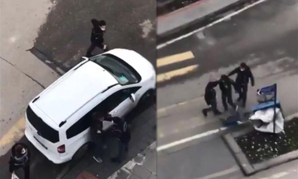Batman'da kağıt toplayan genç, sokak ortasında polis tarafından darp edildi