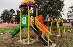 'Çocuklar hep gülsün' diye 50 mahalleye oyun parkları kuruluyor
