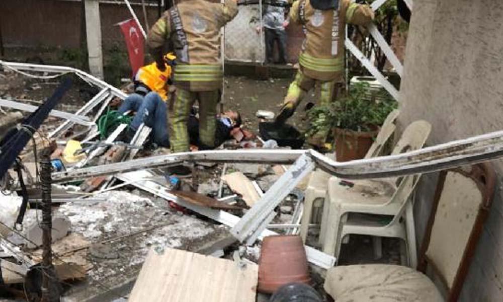 Avcılar'da balkon çöktü: 2 yaralı