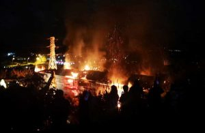 Bodrum'da yangın: Bazı bölgelerin elektriği kesildi!