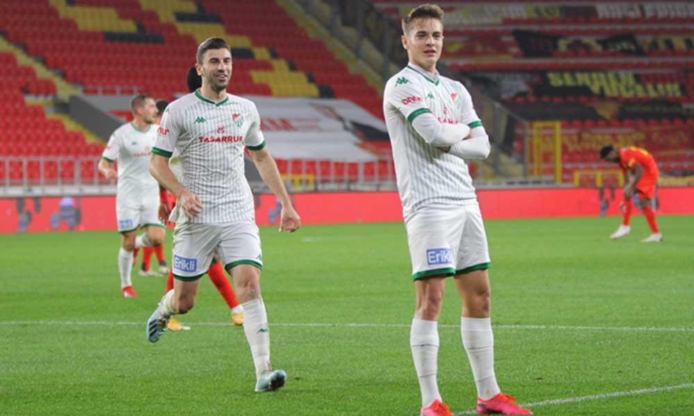 9 gollü maçta gülen taraf Bursaspor