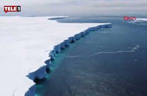 2017 yılında Antarktika'dan kopan buzdağı böyle görüntülendi