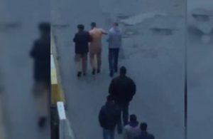 Karısıyla ilişkisi olan adamı çırılçıplak soyup sokak sokak gezdirdi
