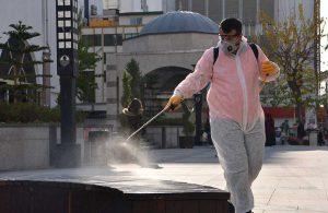Büyükşehir ekipleri dezenfekte çalışmalarını hızlandırdı